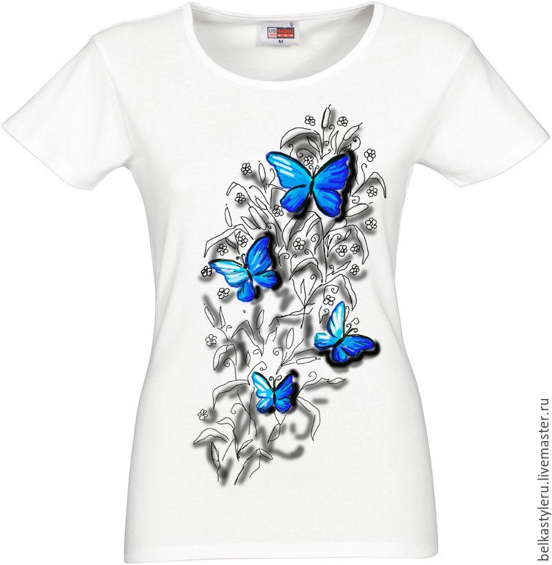 tshirt hand painted butterflies 3d � shop online on