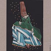 Картины и панно ручной работы. Ярмарка Мастеров - ручная работа Дама в зеленом. Handmade.