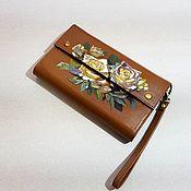 Сумки и аксессуары handmade. Livemaster - original item wallet womens leather. Clutch. Hand painted.. Handmade.