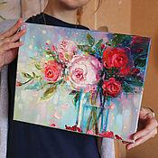 Картины ручной работы. Ярмарка Мастеров - ручная работа Харизматичная цветочность. Handmade.