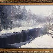 Картины и панно ручной работы. Ярмарка Мастеров - ручная работа Снегири или уроки живописи.... Handmade.