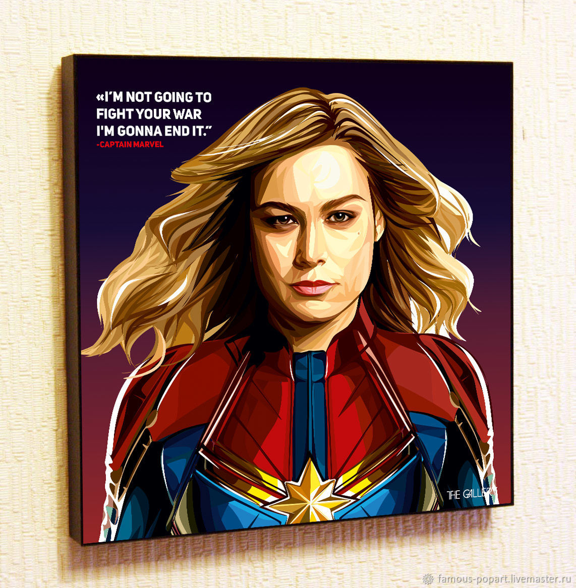 Picture Poster Captain Marvel The Avengers Marvel Pop Art, Fine art photographs, Moscow,  Фото №1