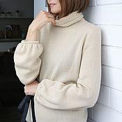 Одежда handmade. Livemaster - original item Cashmere sweater Sand. Handmade.