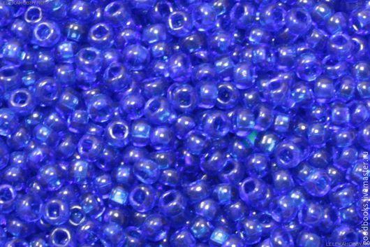 Для украшений ручной работы. Ярмарка Мастеров - ручная работа. Купить Бисер Preciosa круглый 8 #60300 прозрачный/цветной синий. Handmade.