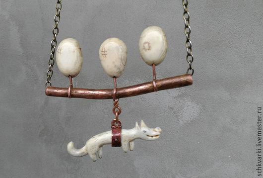 """Колье, бусы ручной работы. Ярмарка Мастеров - ручная работа. Купить Колье """"Мечтательная Люси"""" лиса. Handmade. Колье"""