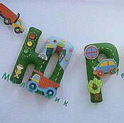 Для дома и интерьера ручной работы. Ярмарка Мастеров - ручная работа Именная гирлянда из фетра для мальчика. Handmade.