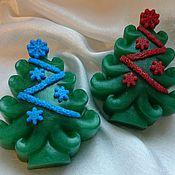 Косметика ручной работы. Ярмарка Мастеров - ручная работа Новогоднее мыло елочка. Мыло ёлочка. Handmade.