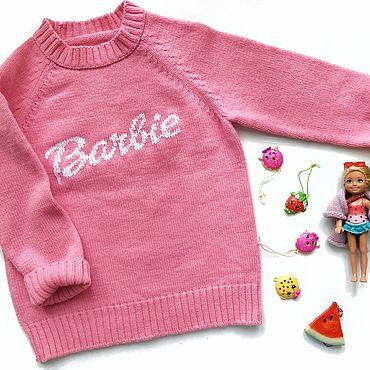 Одежда ручной работы. Ярмарка Мастеров - ручная работа Свитер детский Barbie (Барби). Handmade.