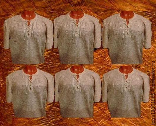 """Для мужчин, ручной работы. Ярмарка Мастеров - ручная работа. Купить 100% лён.Мужская рубашка """"Кольчуга переходы"""". Handmade."""