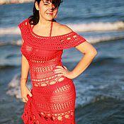 """Одежда ручной работы. Ярмарка Мастеров - ручная работа Пляжное платье """"Sunset"""". Handmade."""