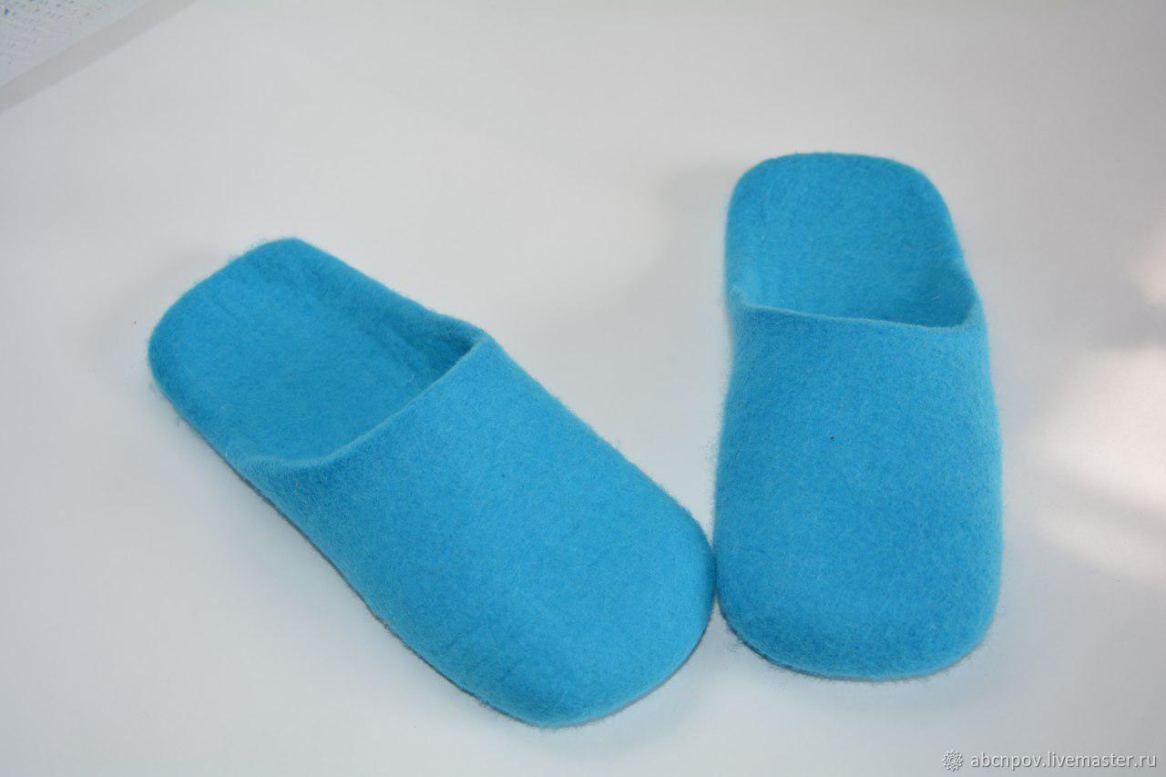 Slippers-flip flops Turquoise mules, Slippers, Liski,  Фото №1