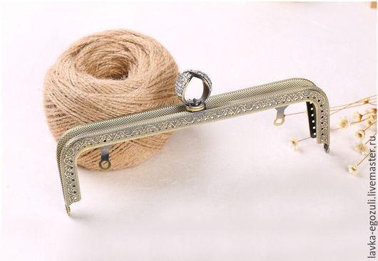 Другие виды рукоделия ручной работы. Ярмарка Мастеров - ручная работа. Купить Фермуар 20,5 см, пришивная рамка,фермуары пришивные, фермуар для сумок. Handmade.