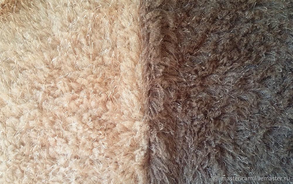 Искусственный мех для игрушек коричневый и бежевый, Мех, Краснодар,  Фото №1