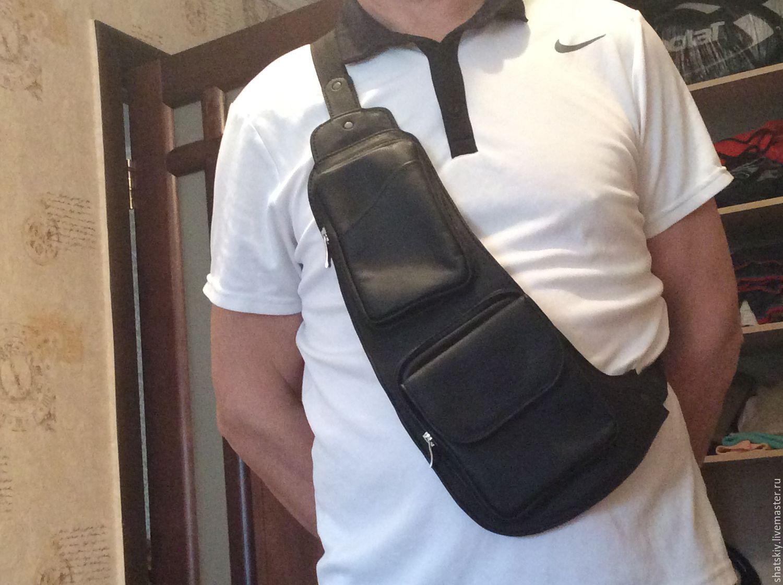 c48f48882d0d Мужские сумки ручной работы. Ярмарка Мастеров - ручная работа. Купить кожаная  мужская наплечная сумка ...