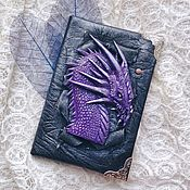Канцелярские товары handmade. Livemaster - original item Cover for a passport with the dragon. Handmade.