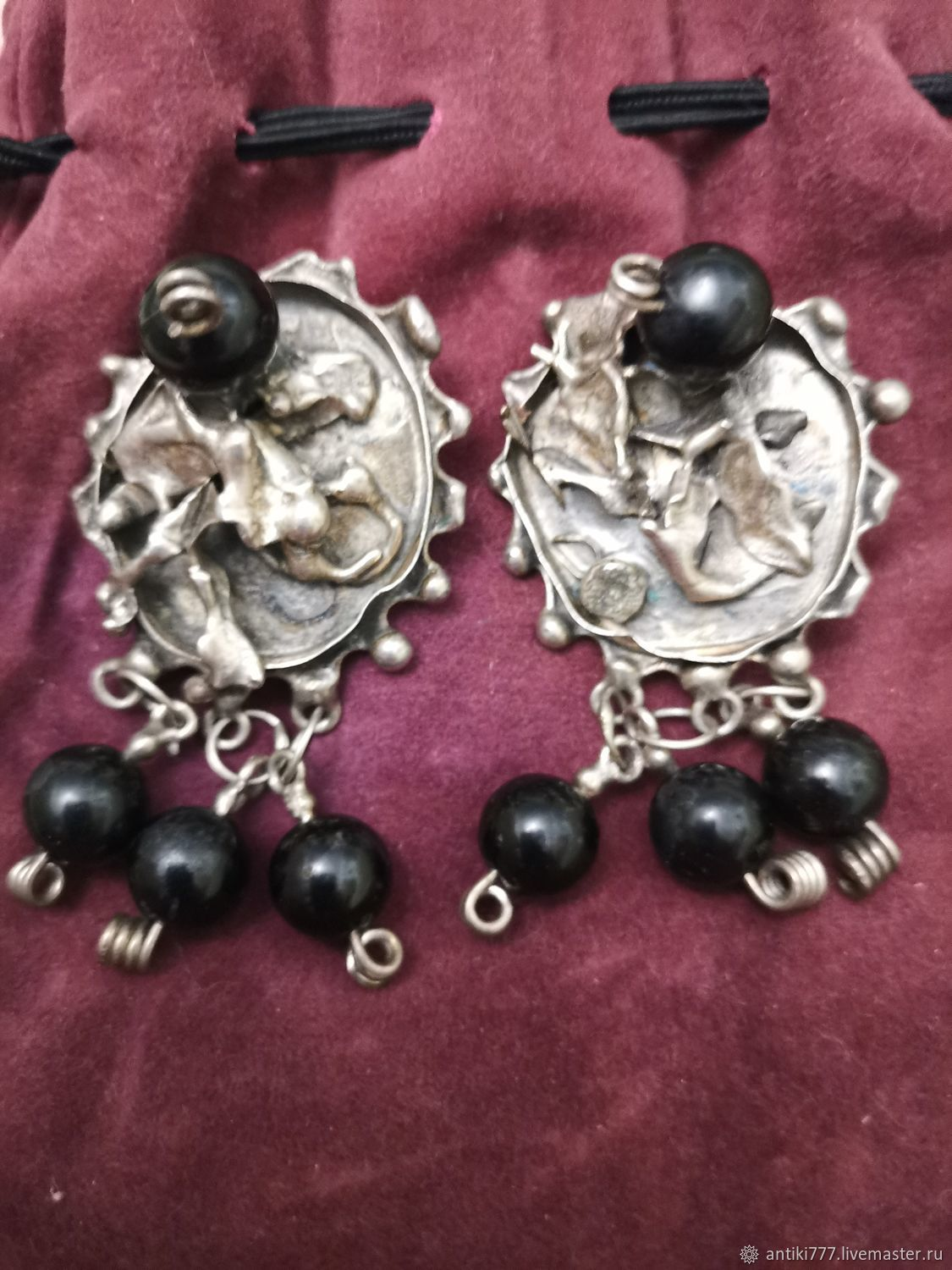 Vintage silver earrings Mexico, Vintage earrings, Moscow,  Фото №1