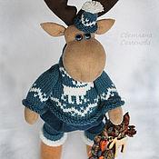 Куклы и игрушки ручной работы. Ярмарка Мастеров - ручная работа Лось Сканди с рождественским венком. Handmade.