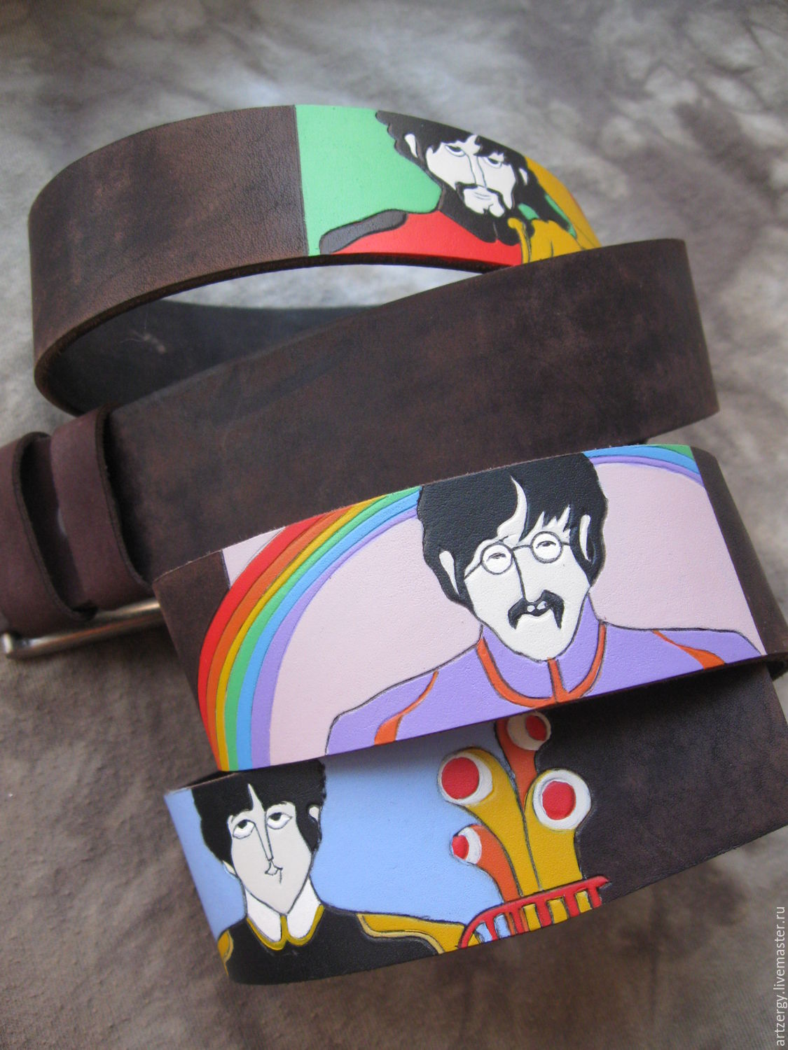 BEATLE'YELLOW'SUB strap leather, Straps, Moscow,  Фото №1