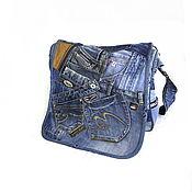 Сумки и аксессуары handmade. Livemaster - original item Messenger Bag Denim Boho Shoulder Bag Messenger Bag. Handmade.