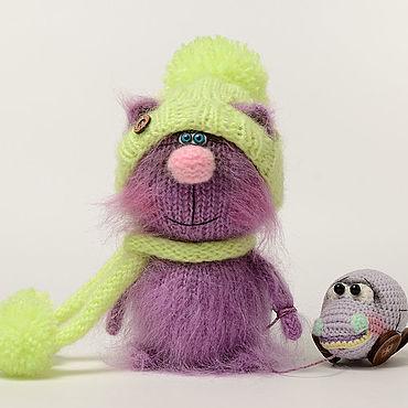 Куклы и игрушки ручной работы. Ярмарка Мастеров - ручная работа Вязаная игрушка Кот Инжир. Handmade.