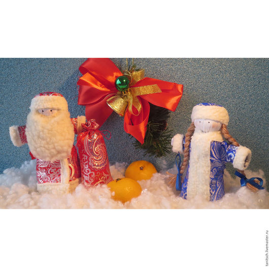 Новый год 2017 ручной работы. Ярмарка Мастеров - ручная работа. Купить Дед Мороз и Снегурочка. Handmade. Дед мороз