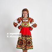 Русский стиль handmade. Livemaster - original item Russian folk costume for girls