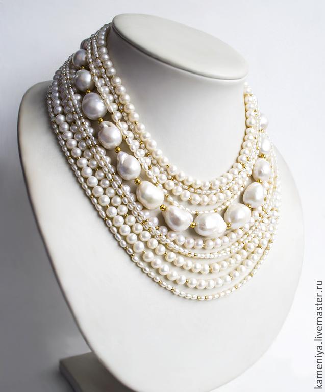 Ожерелье из натурального жемчуга купить москва