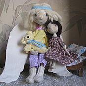 Куклы и игрушки ручной работы. Ярмарка Мастеров - ручная работа Ангел -хранитель и девочка. Handmade.