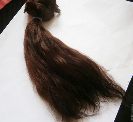 Куклы и игрушки ручной работы. Ярмарка Мастеров - ручная работа. Купить Волосы для кукол, мохер. Handmade. Рыжий, волсоы козочка