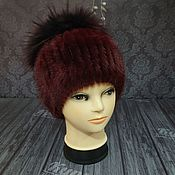 Аксессуары handmade. Livemaster - original item Fur hat made of natural mink fur.. Handmade.