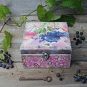 """Для дома и интерьера ручной работы. Ярмарка Мастеров - ручная работа """"Винная ягода"""" чайный короб. Handmade."""