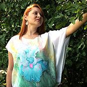 """Одежда ручной работы. Ярмарка Мастеров - ручная работа Авторская блуза """"Необыкновенный ирис"""" - батик. Handmade."""