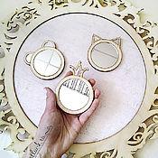 Материалы для творчества ручной работы. Ярмарка Мастеров - ручная работа Зеркала маленькие №2. Handmade.