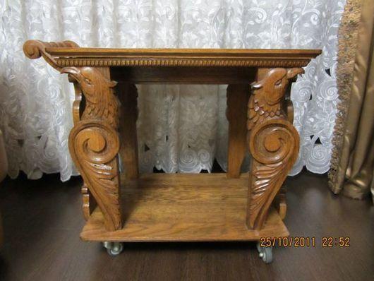 Мебель ручной работы. Ярмарка Мастеров - ручная работа. Купить Журнальный столик. Handmade. Мебель, резьба по дереву, коричневый, вишня