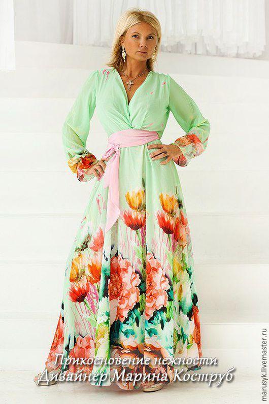 Платья ручной работы. Ярмарка Мастеров - ручная работа. Купить Платье ПН-0. Handmade. Мятный, платье летнее