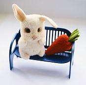 Куклы и игрушки handmade. Livemaster - original item Bunny Carrot. fulled (felted) wool.. Handmade.