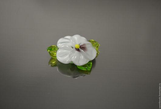 Для украшений ручной работы. Ярмарка Мастеров - ручная работа. Купить Цветок крупный лампворк лэмпворк, белый. Handmade.