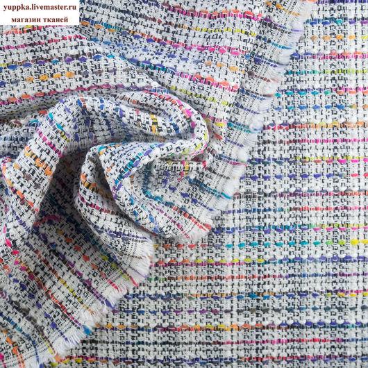 Шитье ручной работы. Ярмарка Мастеров - ручная работа. Купить Итальянская ткань №235, хлопок/шерстью, шанель. Handmade. Комбинированный, ткань