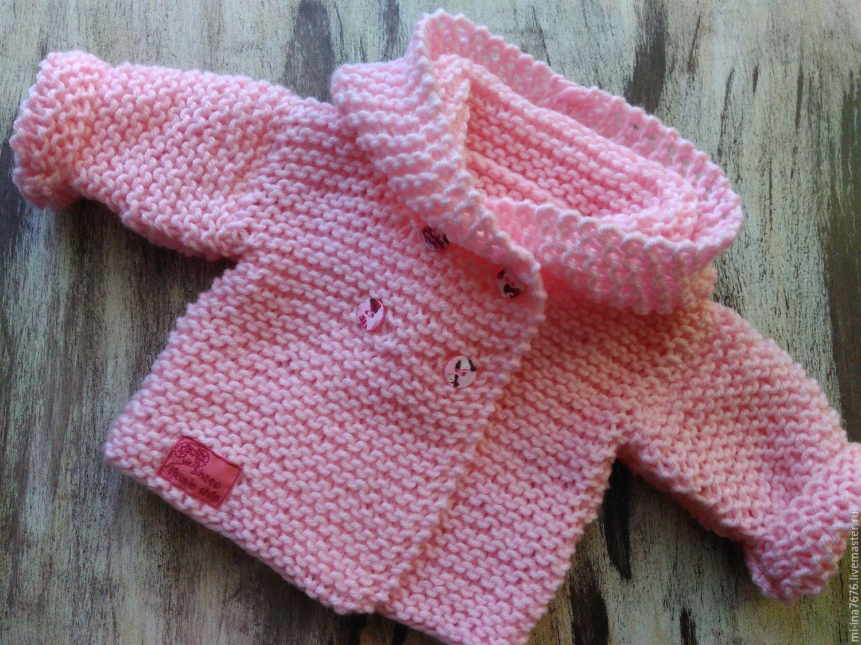 Бесшовное вязание кофточка для новорожденного спицами