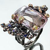 Украшения handmade. Livemaster - original item Silver ring with ametrine, sapphire and chrysolite. Handmade.