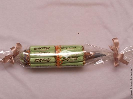 Кулинарные сувениры ручной работы. Ярмарка Мастеров - ручная работа. Купить Карандаш из конфет. Handmade. Салатовый, необычный подарок