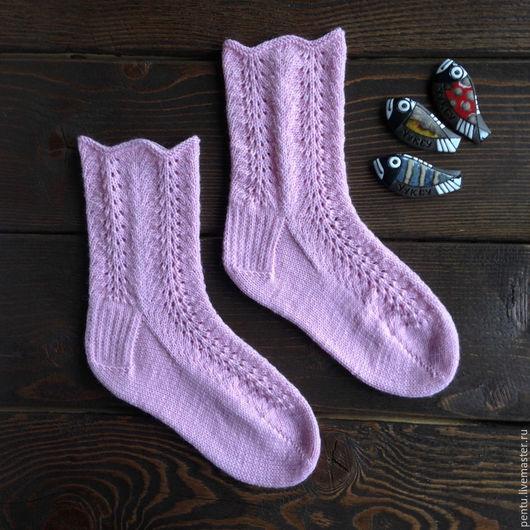 Носки, Чулки ручной работы. Ярмарка Мастеров - ручная работа. Купить Носки вязаные Pink. Handmade. Носки