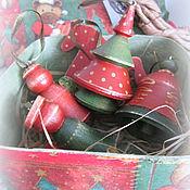 Подарки к праздникам ручной работы. Ярмарка Мастеров - ручная работа Набор новогодних игрушек Винтаж. Handmade.