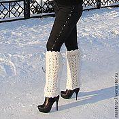 Аксессуары handmade. Livemaster - original item Women`s warm leg warmers knitted art. No. 17ж.. Handmade.