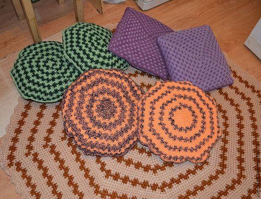 Текстиль, ковры ручной работы. Ярмарка Мастеров - ручная работа. Купить диванные подушки. Handmade. Подарок на любой случай