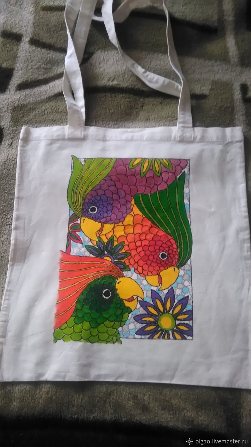 Eco-bag 'Parrots of the Islands of the South seas', Suitcase, Moscow,  Фото №1