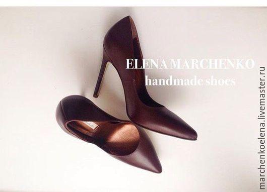 Обувь ручной работы. Ярмарка Мастеров - ручная работа. Купить Туфли. Handmade. Коричневый, туфли на заказ, женская обувь