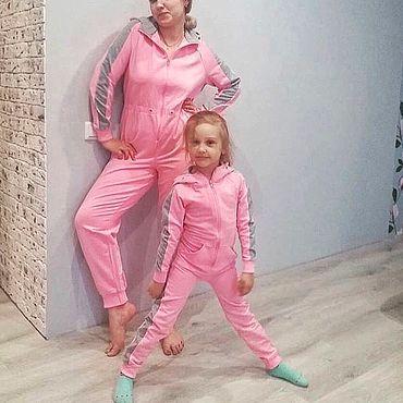 Одежда ручной работы. Ярмарка Мастеров - ручная работа Комбинезоны для мамы и дочки. Handmade.