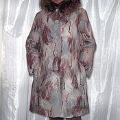 Одежда ручной работы. Ярмарка Мастеров - ручная работа Зимнее валяное пальто тёплое с капюшоном. Handmade.