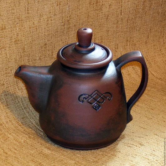 """Чайники, кофейники ручной работы. Ярмарка Мастеров - ручная работа. Купить чайник """"домашний"""". Handmade. Коричневый, чай"""